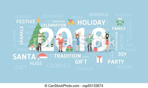 2018 New Year Party.   Csp50133674