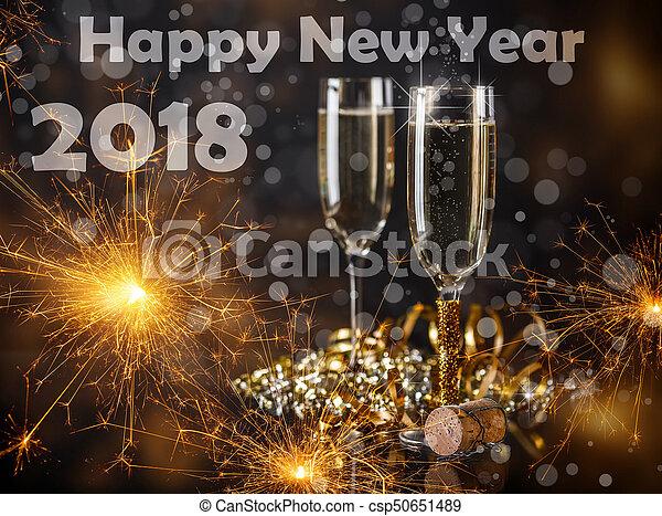 2018 New Year - csp50651489