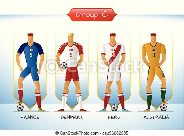 ce5700c14fe 2018 soccer or football team uniform group c. Soccer or football ...