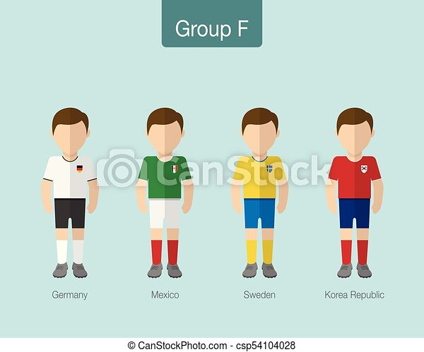 5776c8f4e11 2018 Soccer or football team uniform. Group F with GERMANY, MEXICO, SWEDEN,