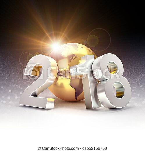 2018 Worldwide greeting symbol - csp52156750