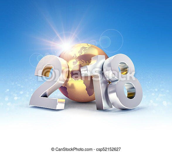 2018 Worldwide greeting symbol - csp52152627