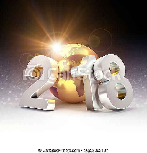 2018 Worldwide greeting symbol - csp52063137