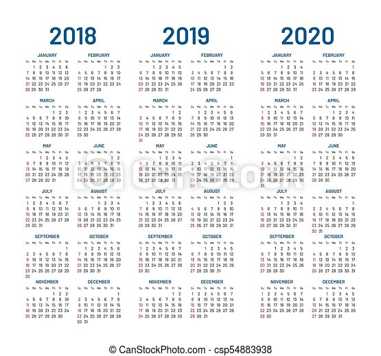 Calendario 2020 Com Feriados.2019 Calendario 2020 2018 Ano