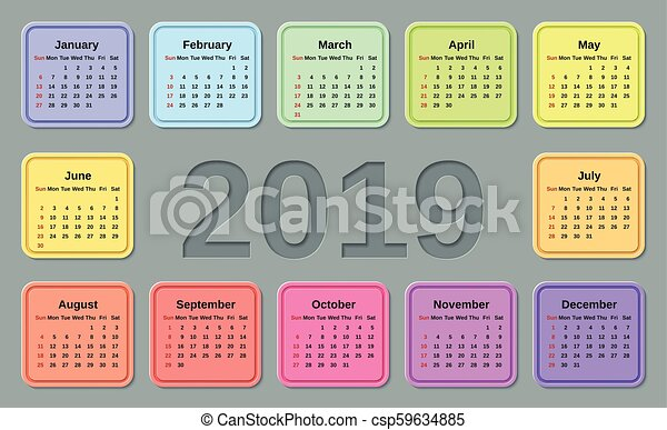 yearly calendar by week