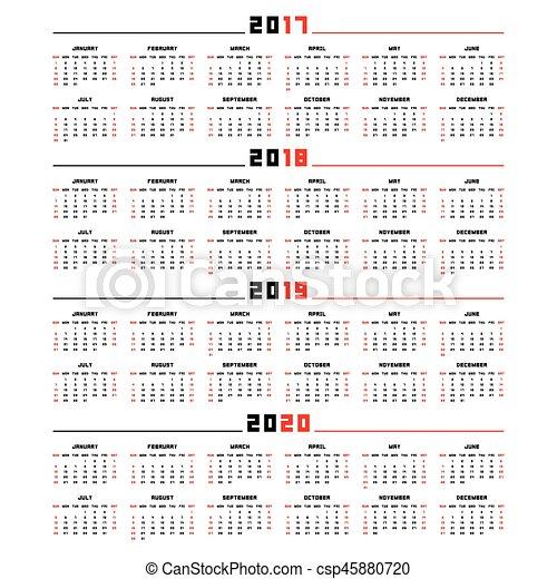 Calendrier Mensuel 2020 2019.2019 Calendrier 2017 2020 2018