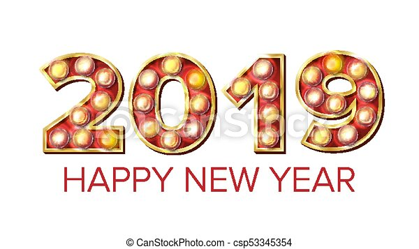 2019 happy new year vector background decoration greeting 2019 happy new year vector background decoration greeting card design 2019 light sign 3d voltagebd Gallery