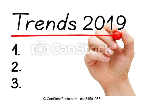 2019, kierunki, rok, spis, czysty - csp64501955