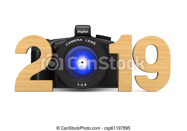 2019 new year. Isolated 3D illustration - csp61197895