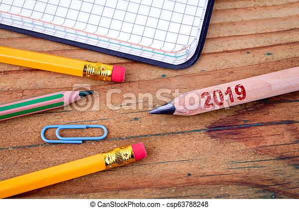 2019 New Year on pencil - csp63788248