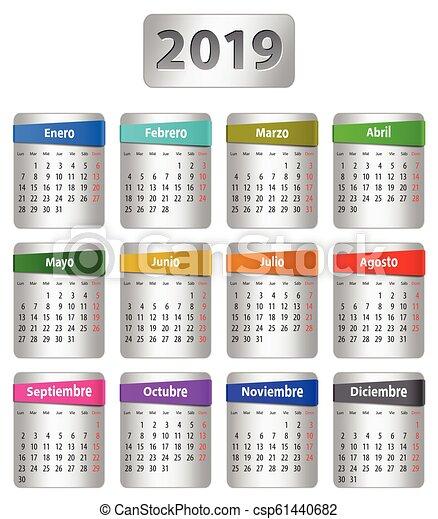 2019 Spanish calendar