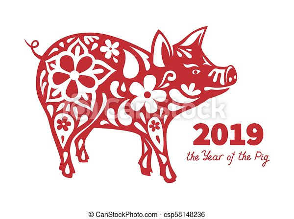 2019 Year Of The Pig Pig Is A Symbol Of The 2019 Chinese New Year
