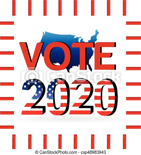 2020 election vote usa map election vote 2020 usa map eps vector rh canstockphoto com election clip art free election clipart png