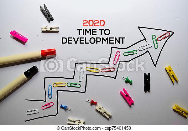 2020 Time To Development write on white board background - csp75401450