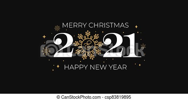 Christmas Card 2021 2021 Merry Christmas And Happy New Year Card With Golden Snowflakes Merry Christmas Greeting Card With Linear Snowflakes Canstock