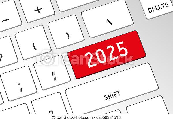 2025 - teclado de computadora 3D - csp59334518