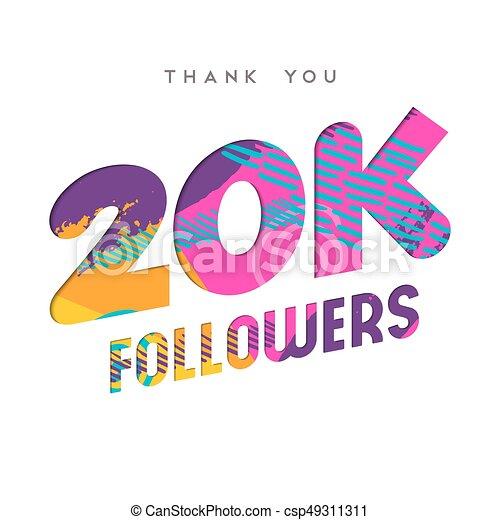 20k internet follower number thank you template 20000 followers
