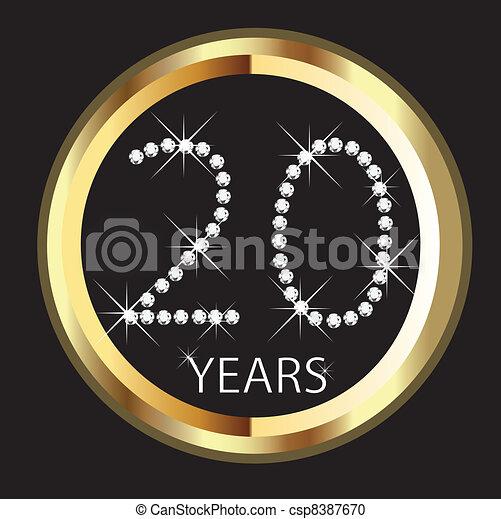 20th years happy anniversary - csp8387670