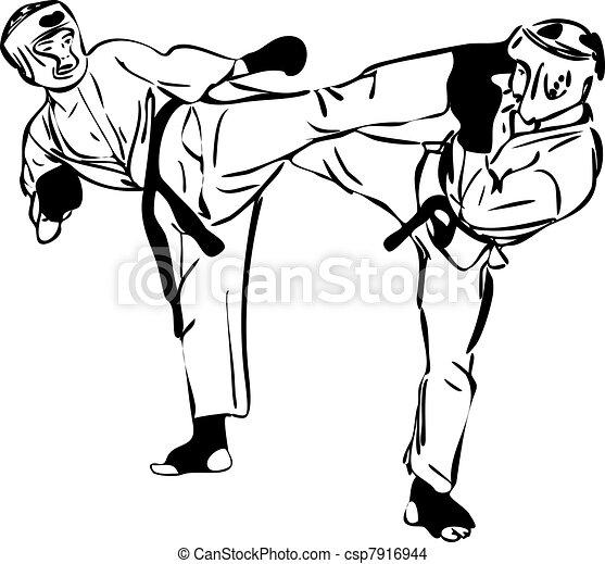 22  Karate Kyokushinkai sketch martial arts and combative sports(3).jpg - csp7916944