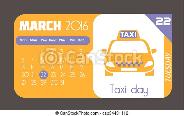 22 March taxi day - csp34431112