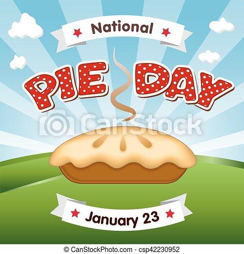 23, janvier, jour, vacances, tarte - csp42230952