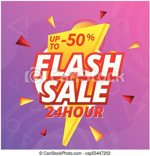 Venta de flash 24 horas hasta 50% de descuento en imagen vector de trasfondo de perno - csp55447202