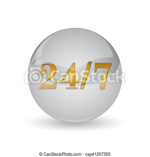 24 7 icon - csp41207355