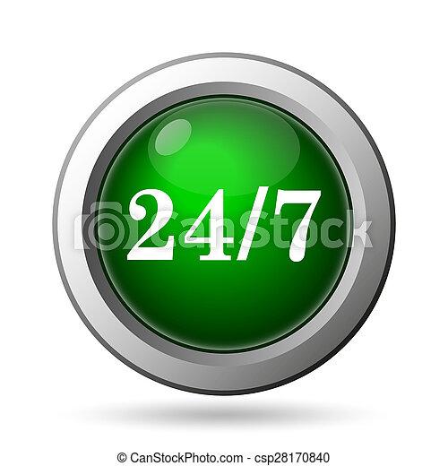 24 7 icon - csp28170840