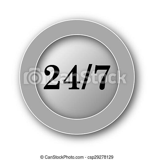 24 7 icon - csp29278129