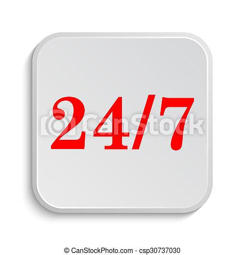 24 7 icon - csp30737030