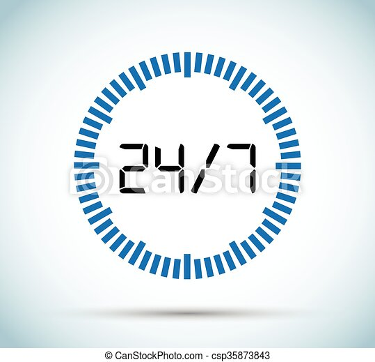 24, 7, minuteur - csp35873843