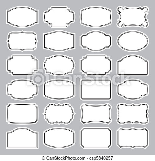 24 blank labels set (vector) - csp5840257