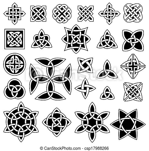 24 Celtic knots - csp17988266