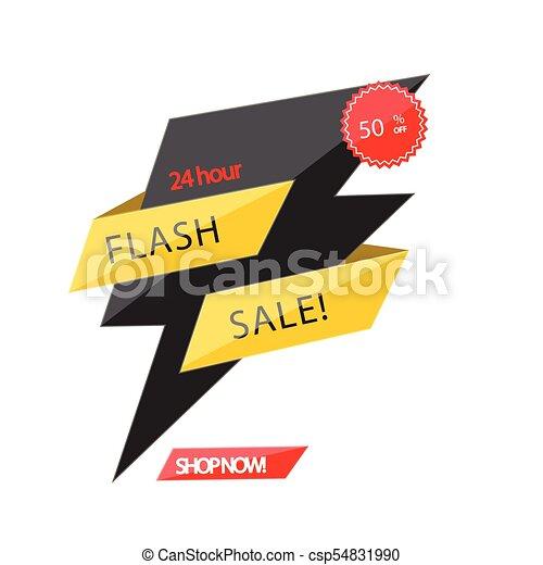 Venta flash 24 horas 50% de descuento en imagen vectorial origami - csp54831990