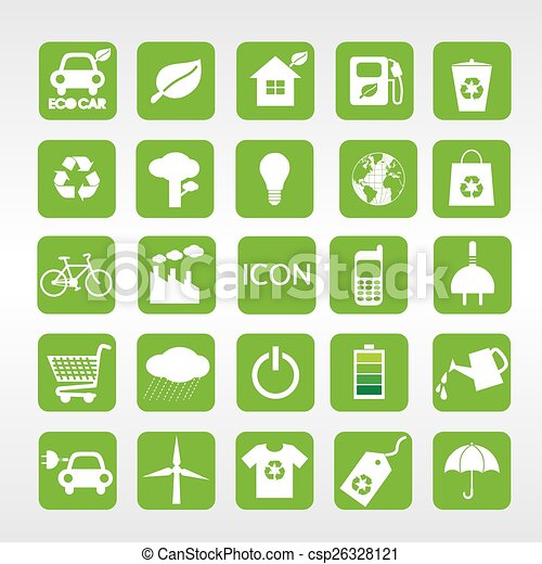 24 Ecology Vector Icons Set. - csp26328121