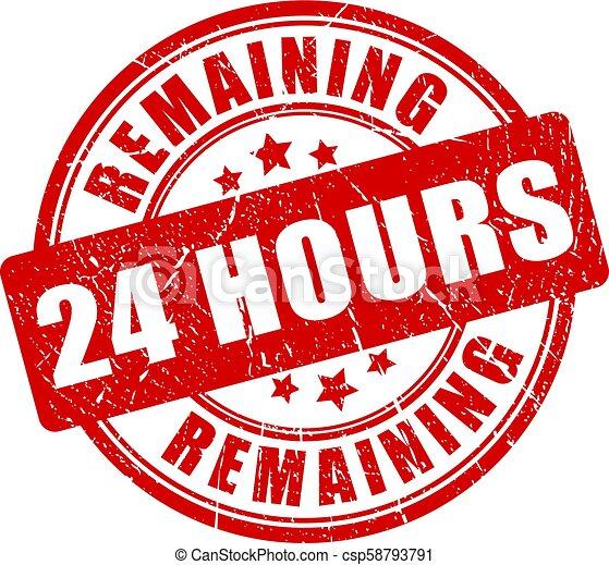 Quedan 24 horas de sello - csp58793791
