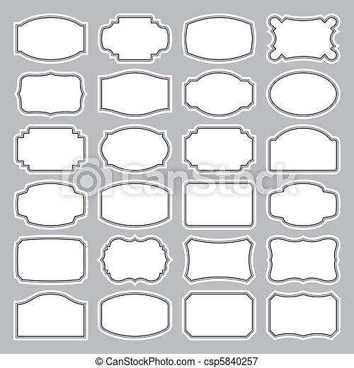 24, etiquetas, jogo, (vector), em branco - csp5840257