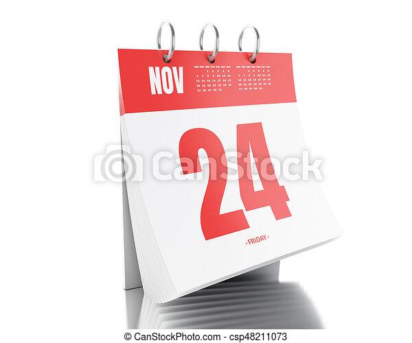 Calendario Giorno.24 Giorno Data 2017 Calendario Novembre 3d