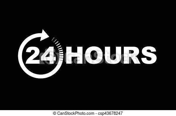 24 heures, icône - csp43678247
