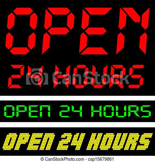 24 heures, ouvert - csp15679861
