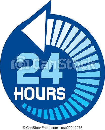 24 horas, ícone - csp22242975
