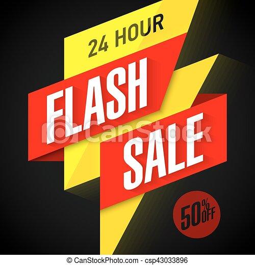 24 hour Flash Sale banner - csp43033896