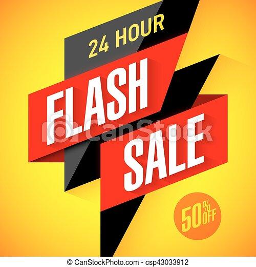 24 hour Flash Sale banner - csp43033912