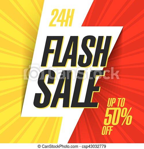 24 hour Flash Sale bright banner - csp43032779
