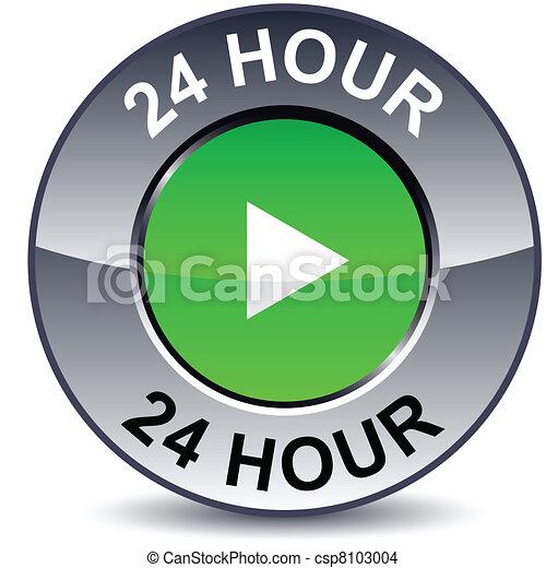 24 hour round button. - csp8103004