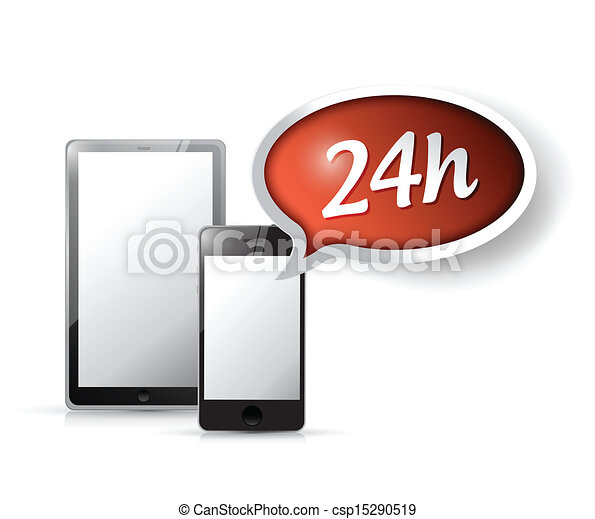 24 hour service customer technology support. - csp15290519