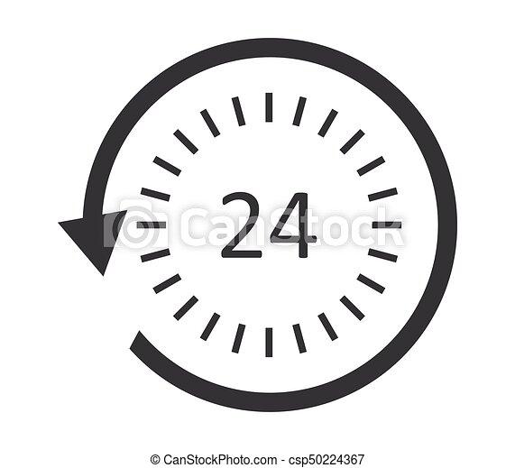 24-hour service icon - csp50224367