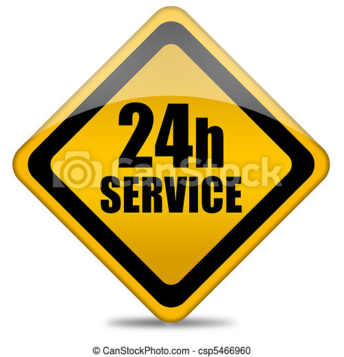 24 hour service sign - csp5466960