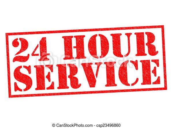24 HOUR SERVICE - csp23496860