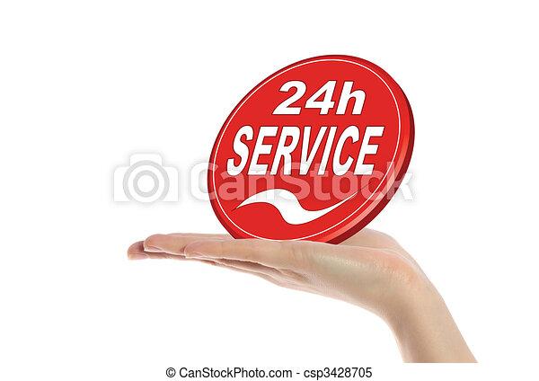24 hour service - csp3428705